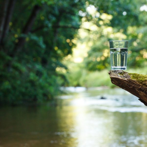 water en glas